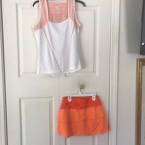 2 Piece Bolle Tech Tennis Skirt S & Top M